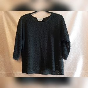 Two by Vince Camuto Open Knit Sweater Top Small